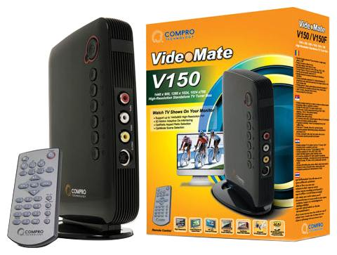 Compro VideoMate V150F TV Tuner Specifications Review And