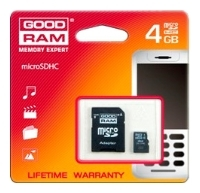 memory card GoodRAM, memory card GoodRAM SDU4GHCAGRR9, GoodRAM memory card, GoodRAM SDU4GHCAGRR9 memory card, memory stick GoodRAM, GoodRAM memory stick, GoodRAM SDU4GHCAGRR9, GoodRAM SDU4GHCAGRR9 specifications, GoodRAM SDU4GHCAGRR9